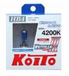 Лампа высокотемпературная Koito Whitebeam HB4 4200K, комплект 2 шт.