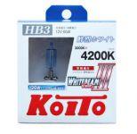 Лампа высокотемпературная Koito Whitebeam HB3 4200K, комплект 2 шт.