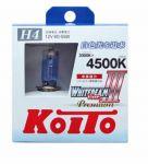 Лампа высокотемпературная Koito Whitebeam Premium H4  4500K, комплект 2 шт.