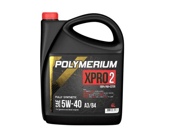 Моторное масло POLYMERIUM XPRO2 5W40 SN 4л
