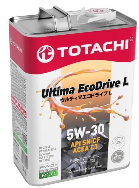 Масло моторное TOTACHI Ultima EcoDrive L SN/CF  5W30 4л