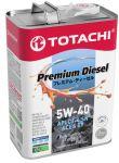 Масло моторноеTOTACHI Premium Diesel 5W40 4л