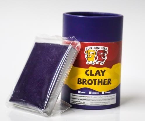 Глина полировальная абразивная BUFF BROTHERS CLAY DARK BLUE 100r.