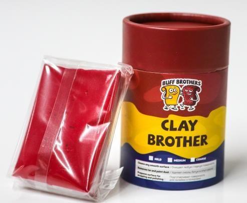 Глина полировальная полуабразивная BUFF BROTHERS CLAY MAROON 100r.