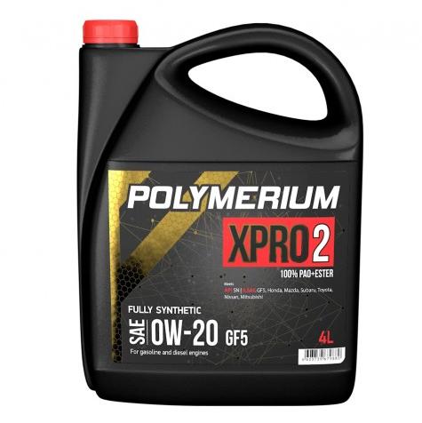 Моторное масло POLYMERIUM XPRO2 0W20 GF5 SN 4л
