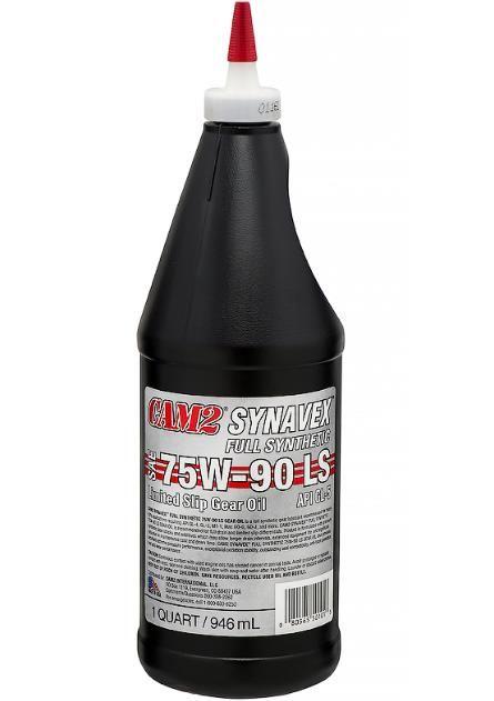 Масло трансмиссионное CAM2 SYNAVEX FULL SYNTHETIC GEAR OIL 75W90 LIMITED SLIP (LS) 946мл
