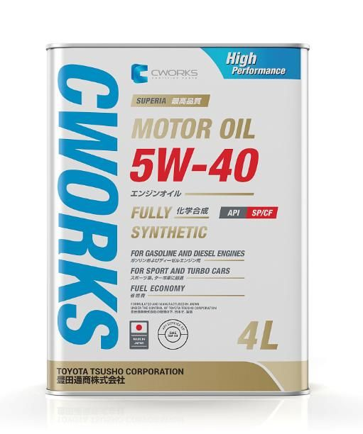 Моторное масло CWORKS SUPERIA MOTOR OIL 5w40 4л