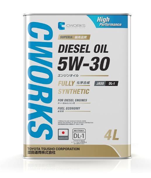 Моторное масло CWORKS SUPERIA DIESEL OIL 5W30 DL-1 4л