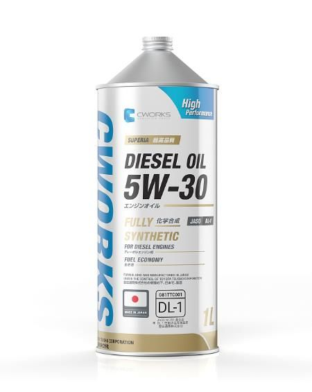 Моторное масло CWORKS SUPERIA DIESEL OIL 5W30 DL-1 1л