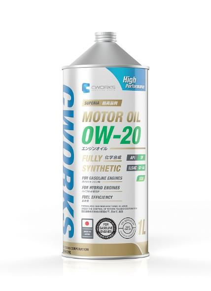 Моторное масло CWORKS SUPERIA MOTOR OIL 0W20 1л