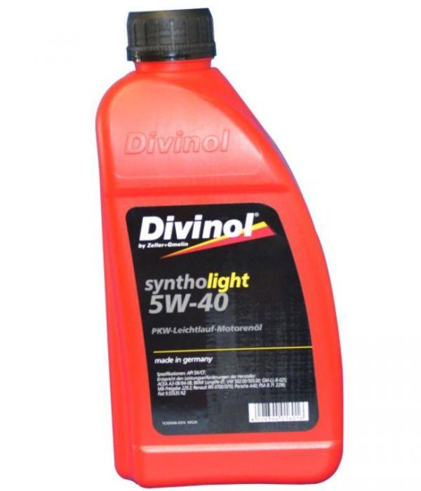 Моторное масло DIVINOL Syntholight 5w40 1 л