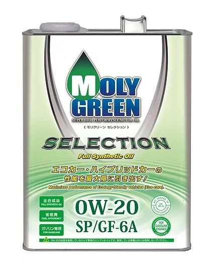 Моторное масло MOLY GREEN SELECTION 0W20 SP/GF-6A (4л)