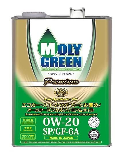 Моторное масло MOLY GREEN EARTH SP/GF-6A 0W20 (4л)