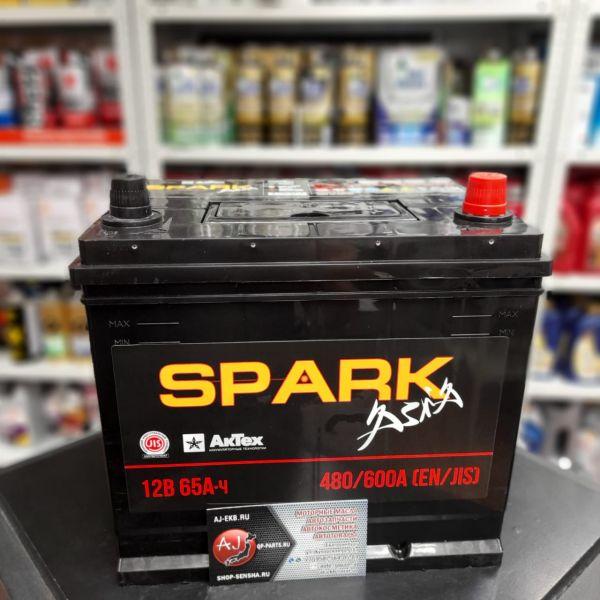 Аккумулятор Asia 65 А/ч о.п. Spark ток 480 232 х 173 х 225 D23L