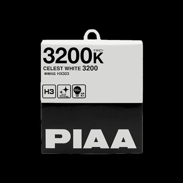 Лампа PIAA BALB CELEST WHITE 3200K (H3) 2шт