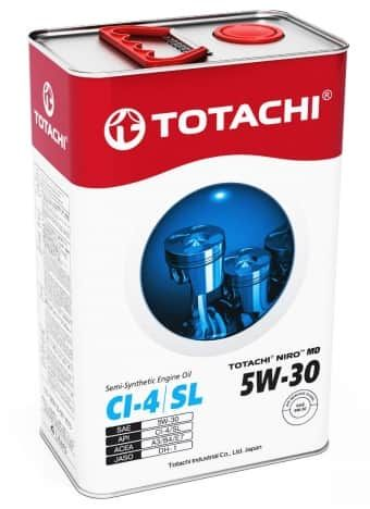 Масло моторное TOTACHI NIRO 5W-30 MD Semi-Synthetic CI-4/SL 4л