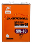 Моторное масло AUTOBACS FULLY SYNTHETIC SAE 5W40 4л